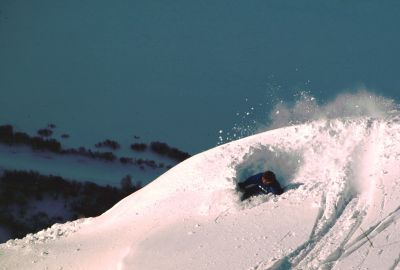 Snowscoot Heavy powder ride
