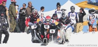 DEPART DE BOARDERCROSS EN SNOWSCOOT