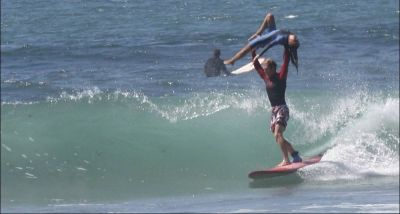 Fred and Val - Tandem Surfing
