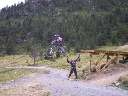 road gap dans la station du granvalira a andorre