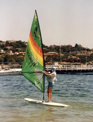 Taking my daughter out windsurfing - Balmoral (Sydney, Australia)