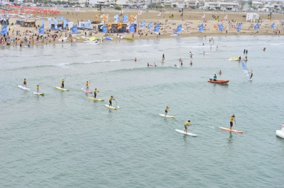 Course en paddle board