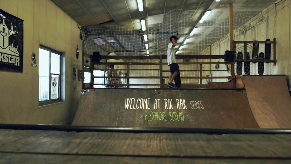 Vid o welcome at rik rak series alexandre bureau for Bureau skate shop