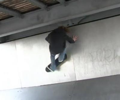 Golden Challenges Adrien Bulard Défi Pro Skate Flipback Wallride