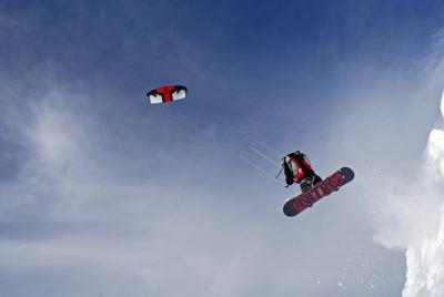 Snowkite a Valcenis