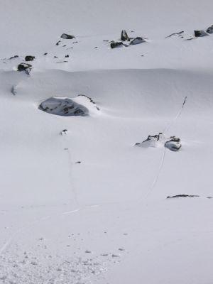 la trace du ski