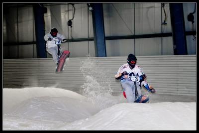 Course de snowscoot indoor