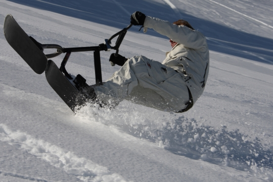 Snowscoot session aux Mosses