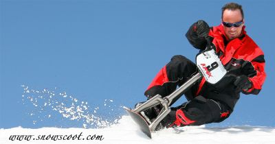 Snowscoot riding