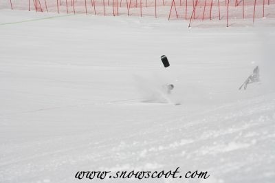 Snowscoot speed record...failed!