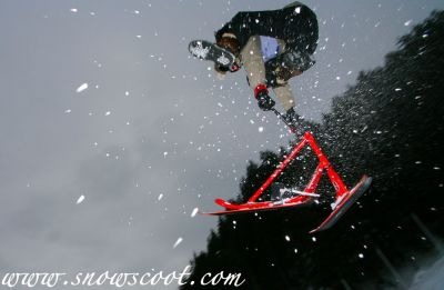 Snowscoot Tail whip