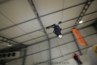 SNOWSCOOT INSANE RIDER HERVE BONNEFOND SNOWHALL FLIPPING IN AMNEVILLE