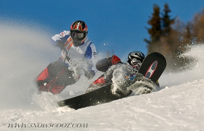 SNOWSCOOT RIDER TAZ CRASHING AT THE EUROPEANS 2006