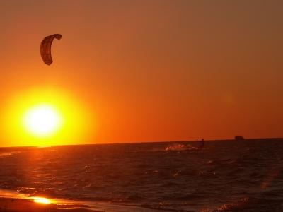 coucher de soleil à beauduc