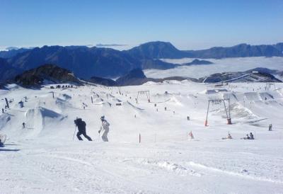 Snow-park des 2 Alpes, sur le glacier