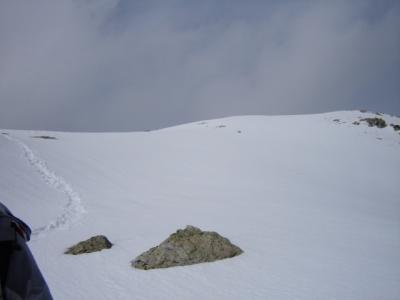 En dessous du sommet