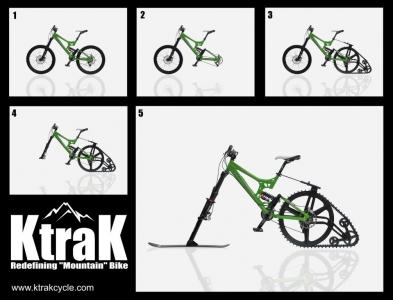 Ski-kit for your mountain bike!