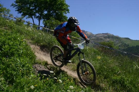 Moi à byciclette