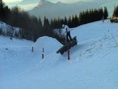 Photo sur la monté du snowparck du sire