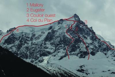 Voie à ski Aiguille du Midi