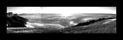 vue panoramique du haut du snowpark