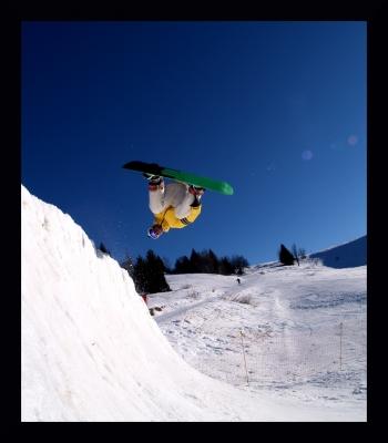 Romain au snowpark du Sire